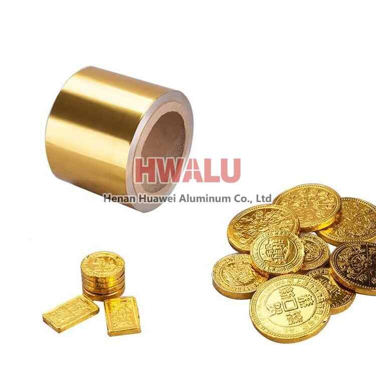 gold aluminum foil for chocolate wrapping