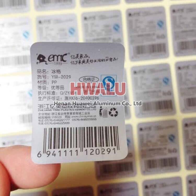 aluminum foil labels